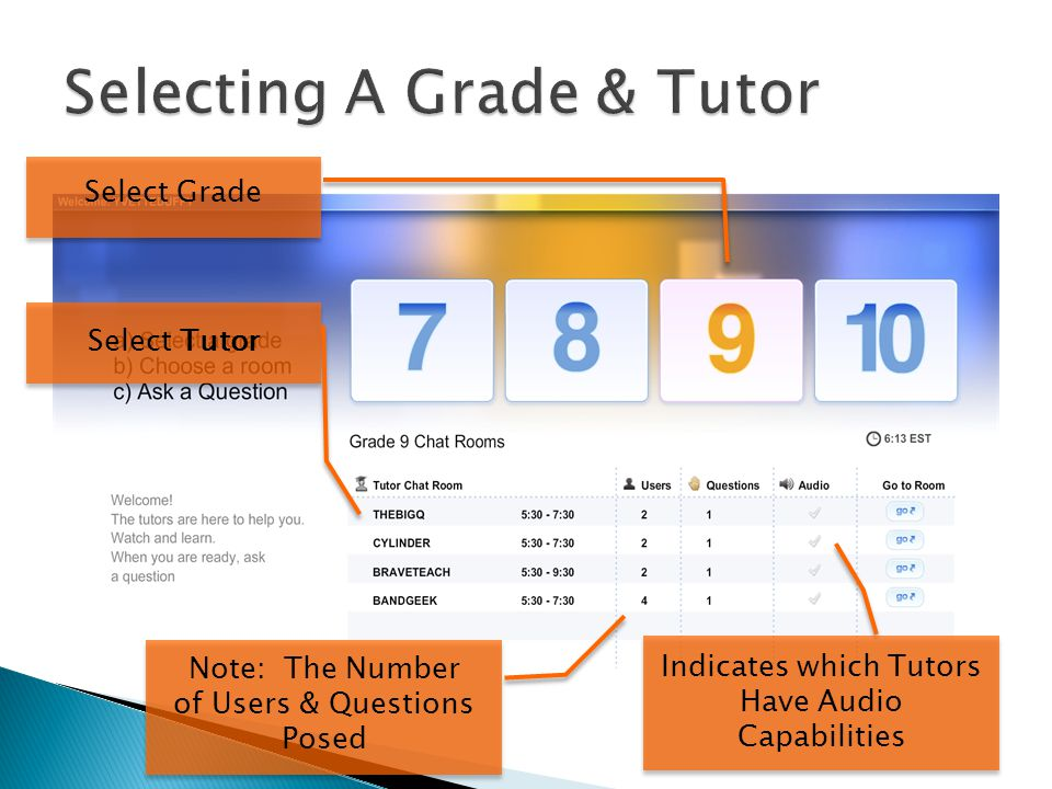 Tutor Student Live Text Chat Live Interactive White Board Audio Waves Indicate Tutor has Audio Capabilities