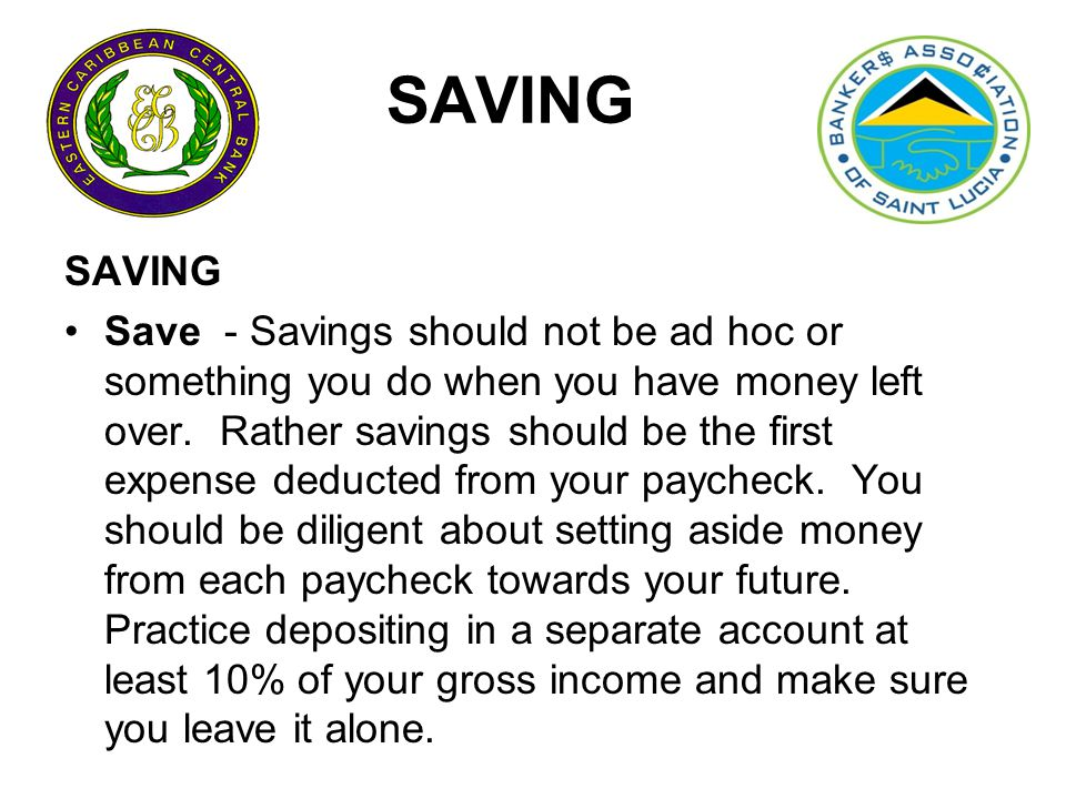 Saving- 10 things you need to know.
