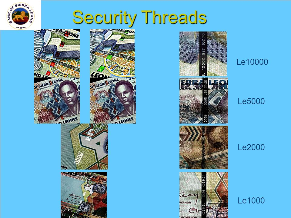 14 Security Threads Le10000 Le5000 Le2000 Le1000
