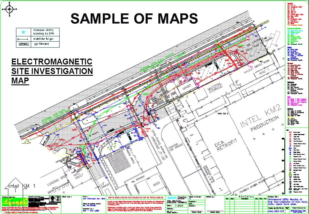 ELECTROMAGNETIC SITE INVESTIGATION MAP SAMPLE OF MAPS