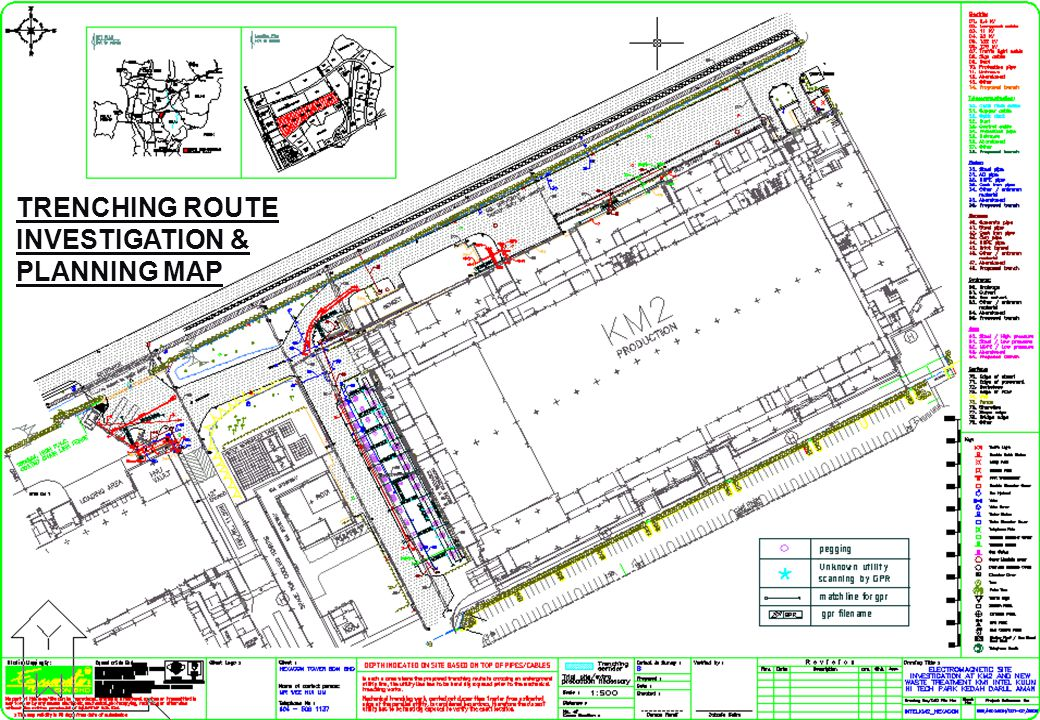 TRENCHING ROUTE INVESTIGATION & PLANNING MAP