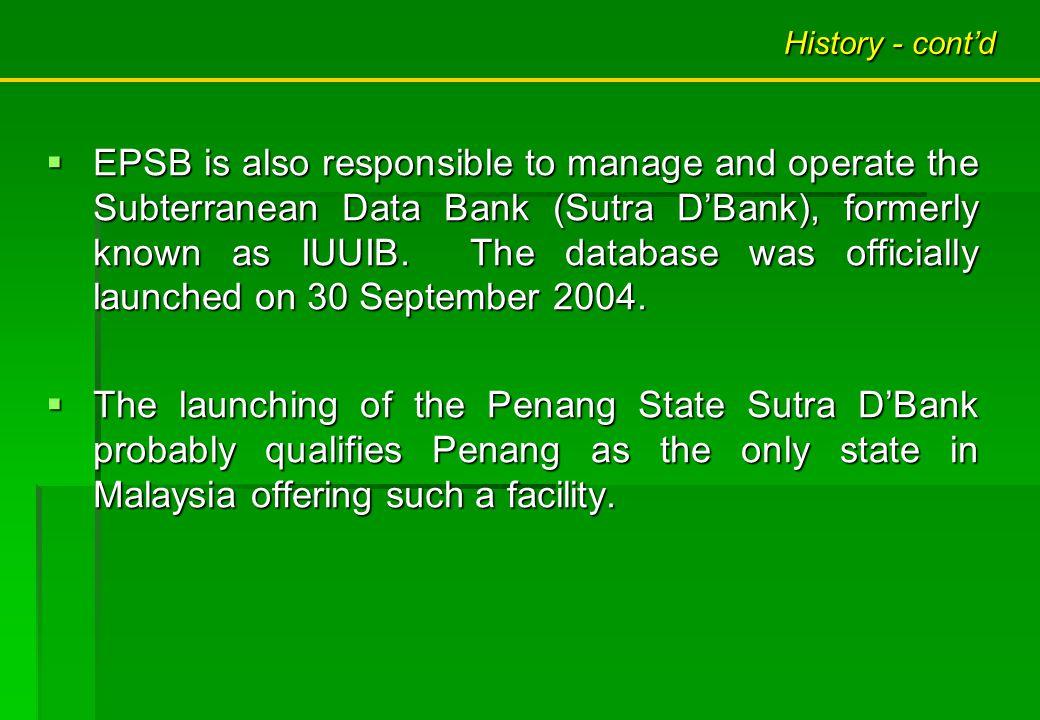 NOTES: DETECTED AND SURVEYED HIGHWAY / PENANG BRIDGE RIVER / LAKE / DAM MAJOR ROAD Penang Island Detection and surveying works completed since 1998 until December 2010 : 54.0 % PROGRESS REPORT