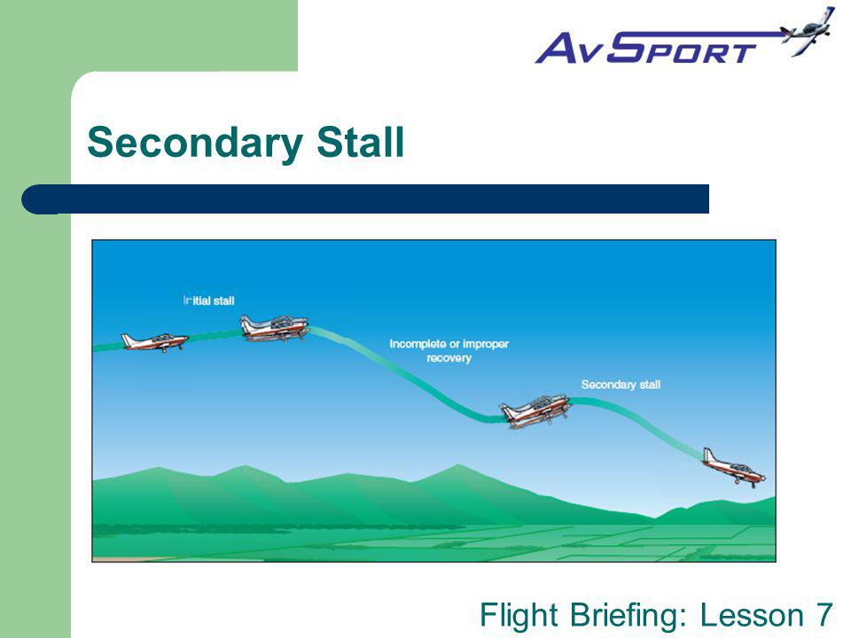 Flight Briefing: Lesson 7 Secondary Stall