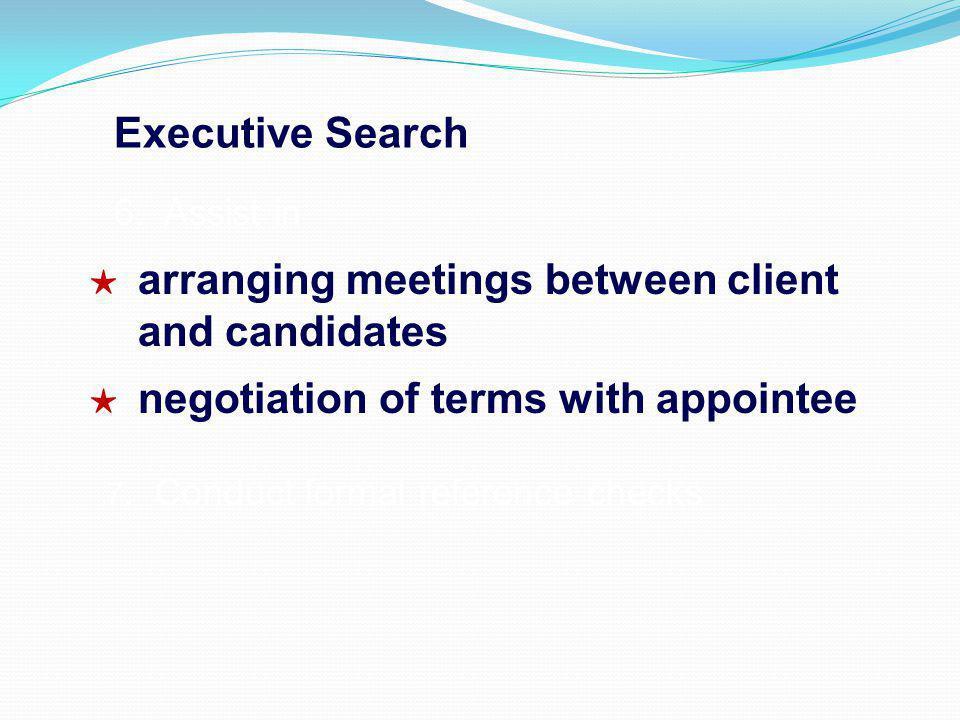 Executive Search 6.