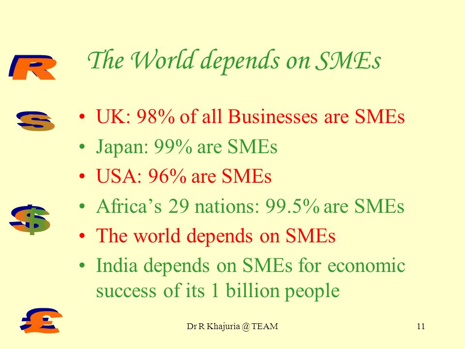Dr R Khajuria @ TEAM10 SMEs provide 20 million Employment