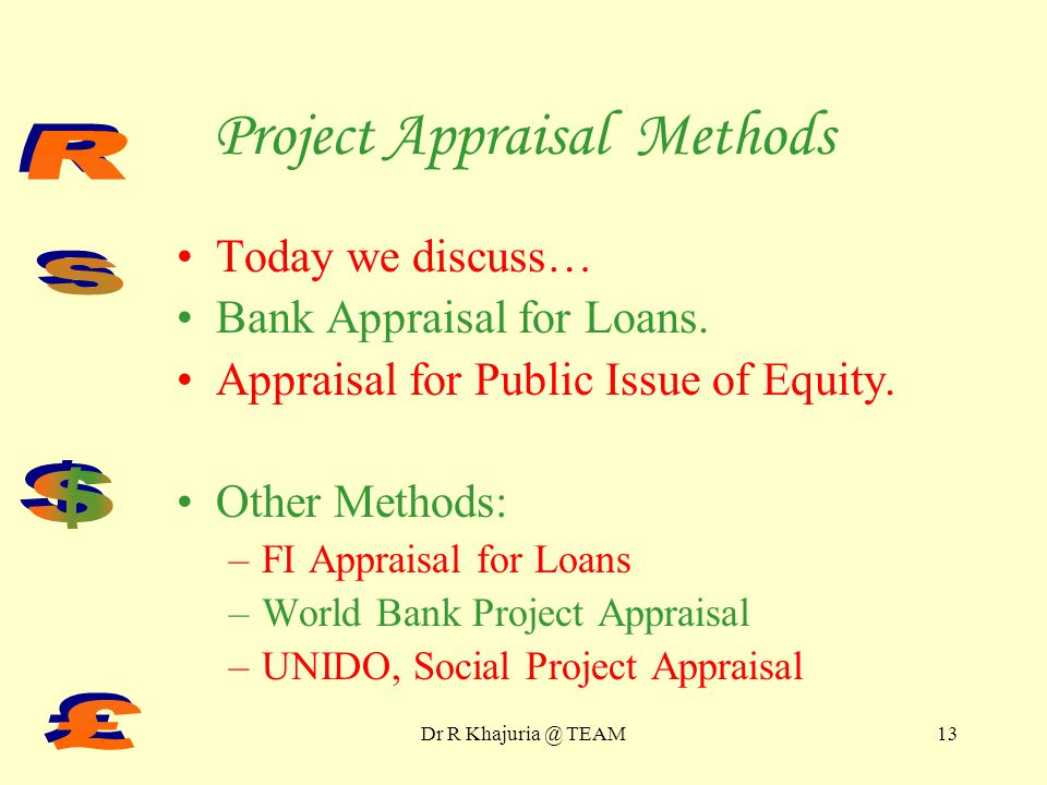 Project Appraisal Methods Part II