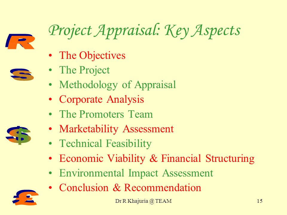 Project Appraisal : Key Aspects Part III