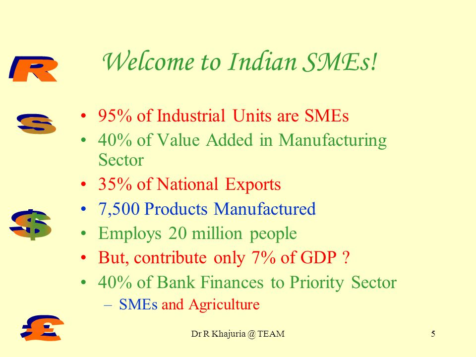 Indian SME Overview Part I