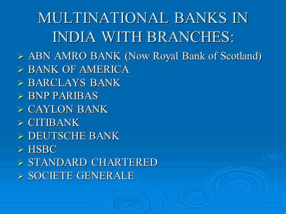 PRESENCE OF ITALIAN BANKS IN INDIA