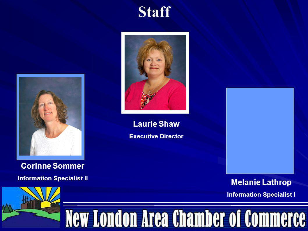 Laurie Shaw Executive Director Corinne Sommer Information Specialist II Melanie Lathrop Information Specialist I Staff