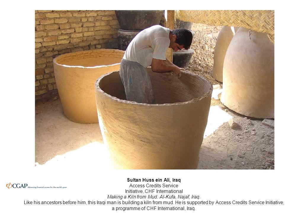 Sultan Huss ein Ali, Iraq Access Credits Service Initiative, CHF International Making a Kiln from Mud.