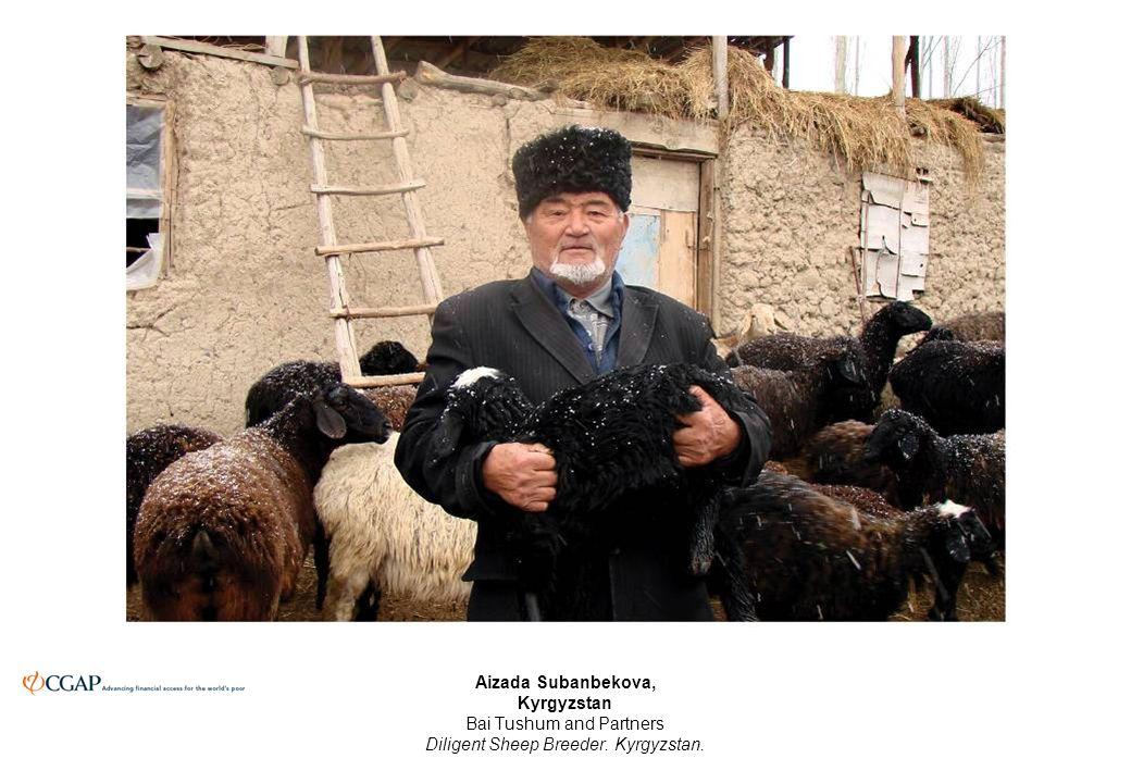 Aizada Subanbekova, Kyrgyzstan Bai Tushum and Partners Diligent Sheep Breeder. Kyrgyzstan.