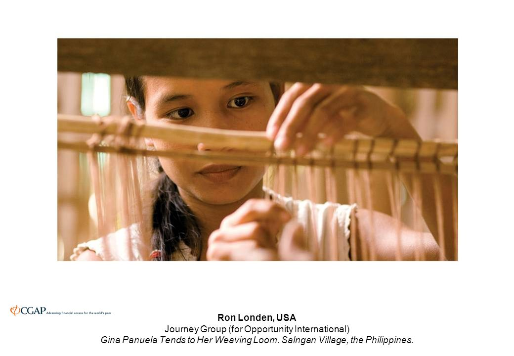 Ron Londen, USA Journey Group (for Opportunity International) Gina Panuela Tends to Her Weaving Loom.