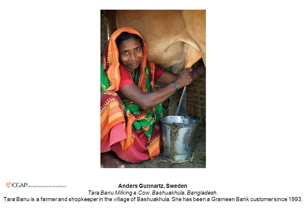Anders Gunnartz, Sweden Tara Banu Milking a Cow. Bashuakhula, Bangladesh.
