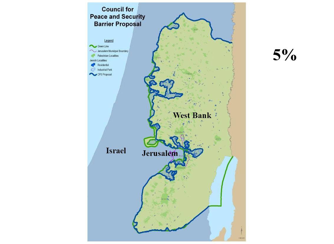 West Bank Israel Jerusalem 5%