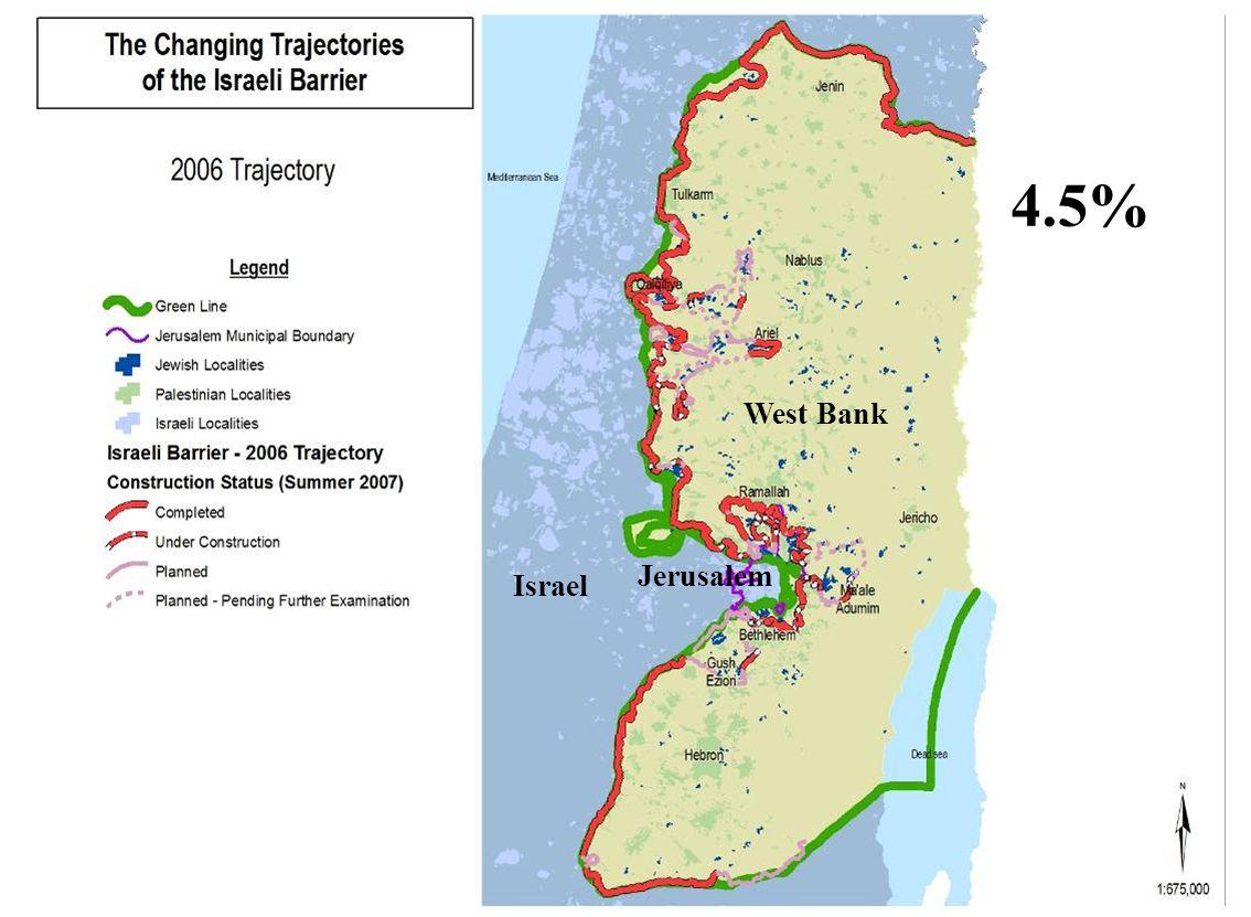 West Bank Israel Jerusalem 4.5%