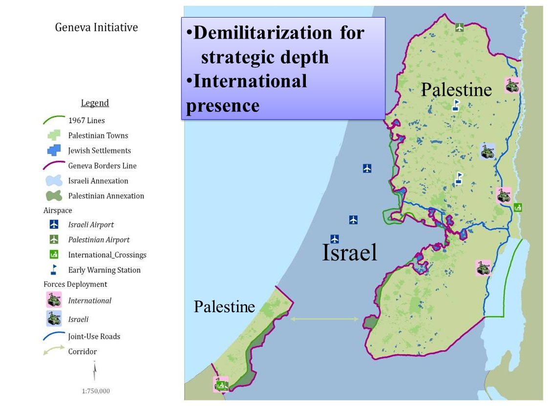 Israel Palestine Demilitarization for strategic depth International presence Demilitarization for strategic depth International presence
