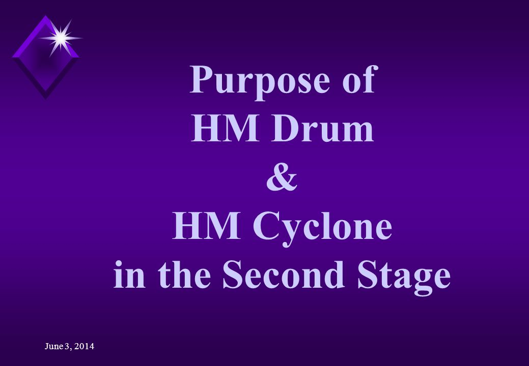 Purpose of HM Drum & HM Cyclone in the Second Stage