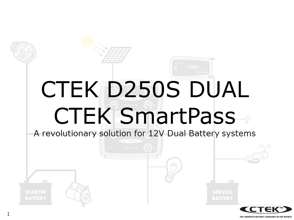 1 CTEK D250S DUAL CTEK SmartPass A revolutionary solution for 12V Dual Battery systems