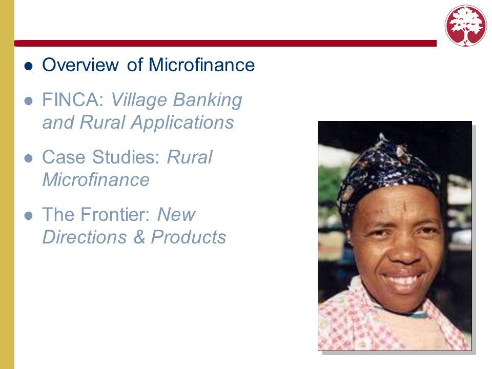 Why Microfinance.