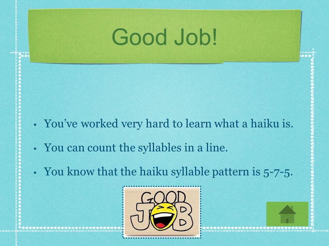 Great job! Go