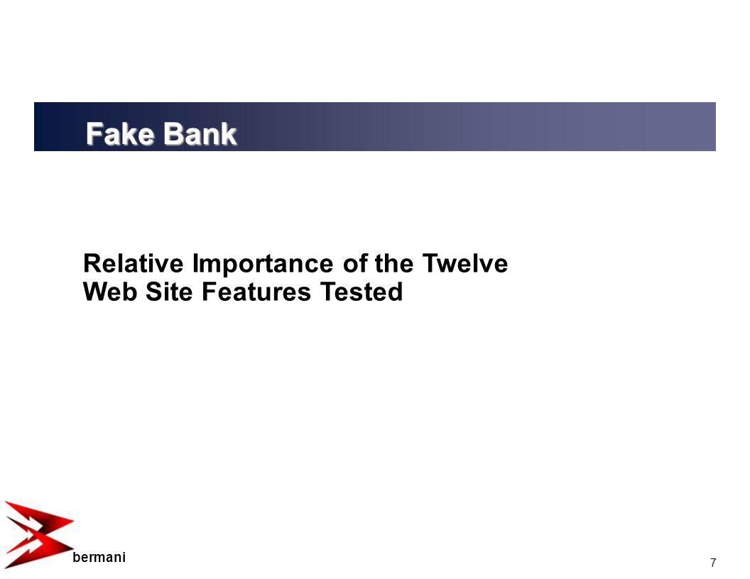 7 bermani Relative Importance of the Twelve Web Site Features Tested Fake Bank