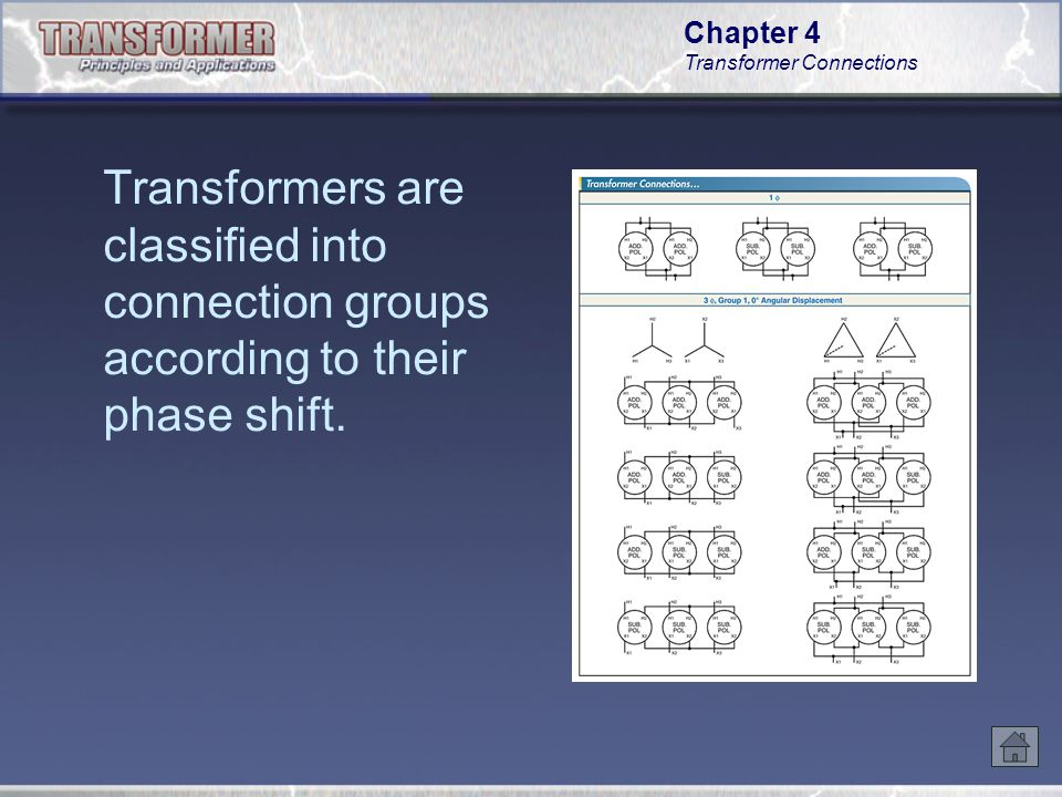 Chapter 4 Transformer Connections The phase sequence on the secondary of a three-phase transformer is the same as the phase sequence on the primary.