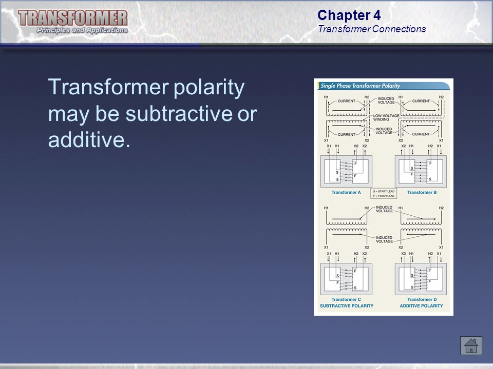 Chapter 4 Transformer Connections The low voltage winding of a standard distribution transformer connected to a single-phase circuit is normally made with two equal coils.