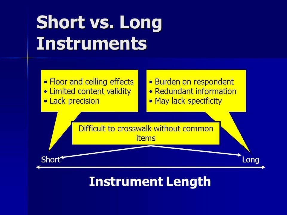 Short vs.