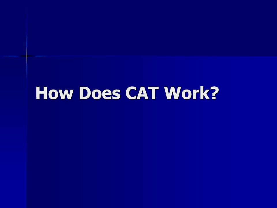 How Does CAT Work