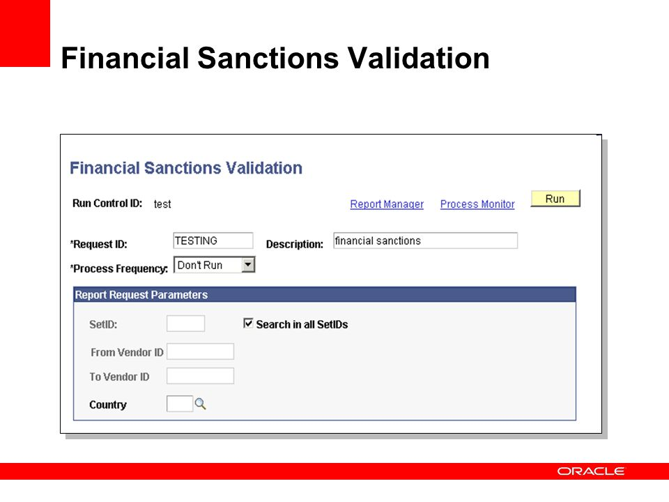 Financial Sanctions Validation