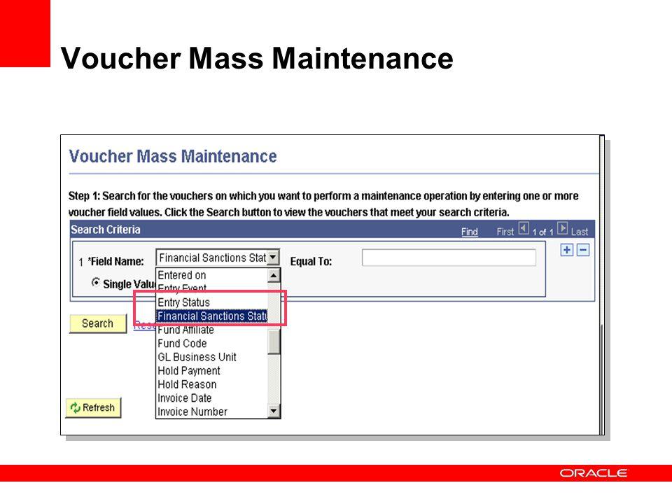 Voucher Mass Maintenance