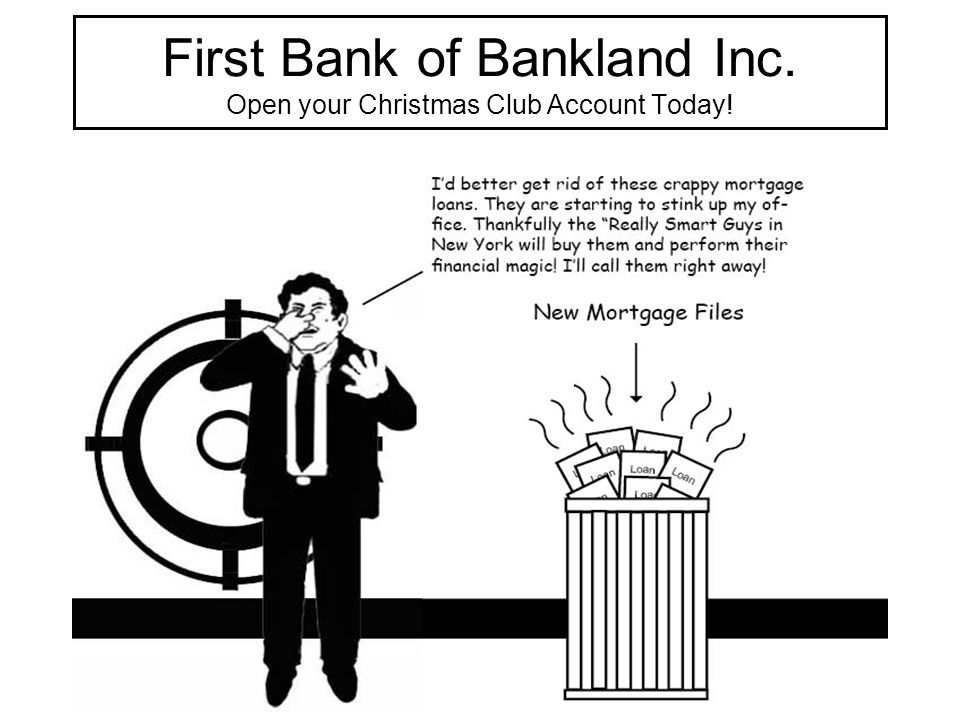 First Bank of Bankland Inc. Open your Christmas Club Account Today!