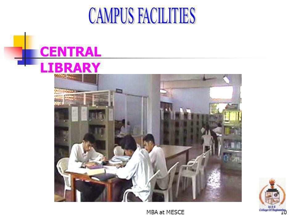 MBA at MESCE10 CENTRAL LIBRARY
