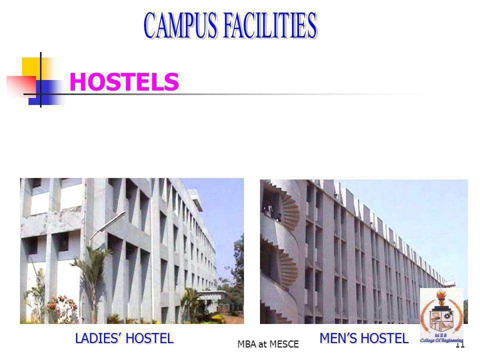 MBA at MESCE11 HOSTELS LADIES HOSTEL MENS HOSTEL