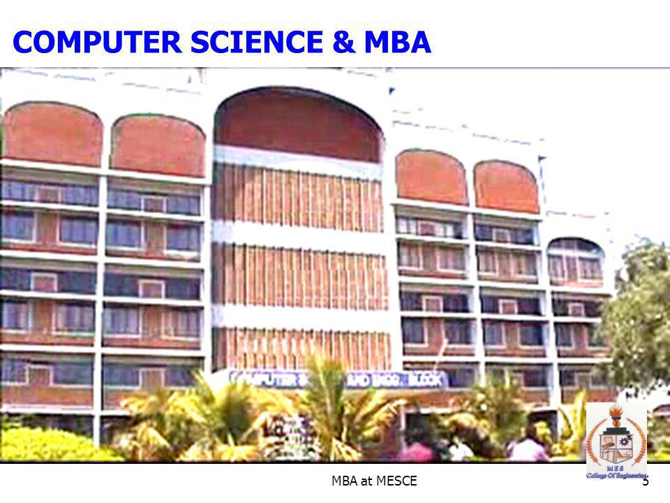 MBA at MESCE5 COMPUTER SCIENCE & MBA