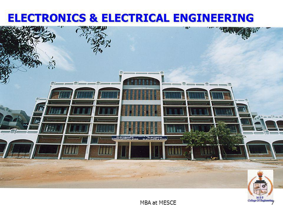 MBA at MESCE7 ELECTRONICS & ELECTRICAL ENGINEERING