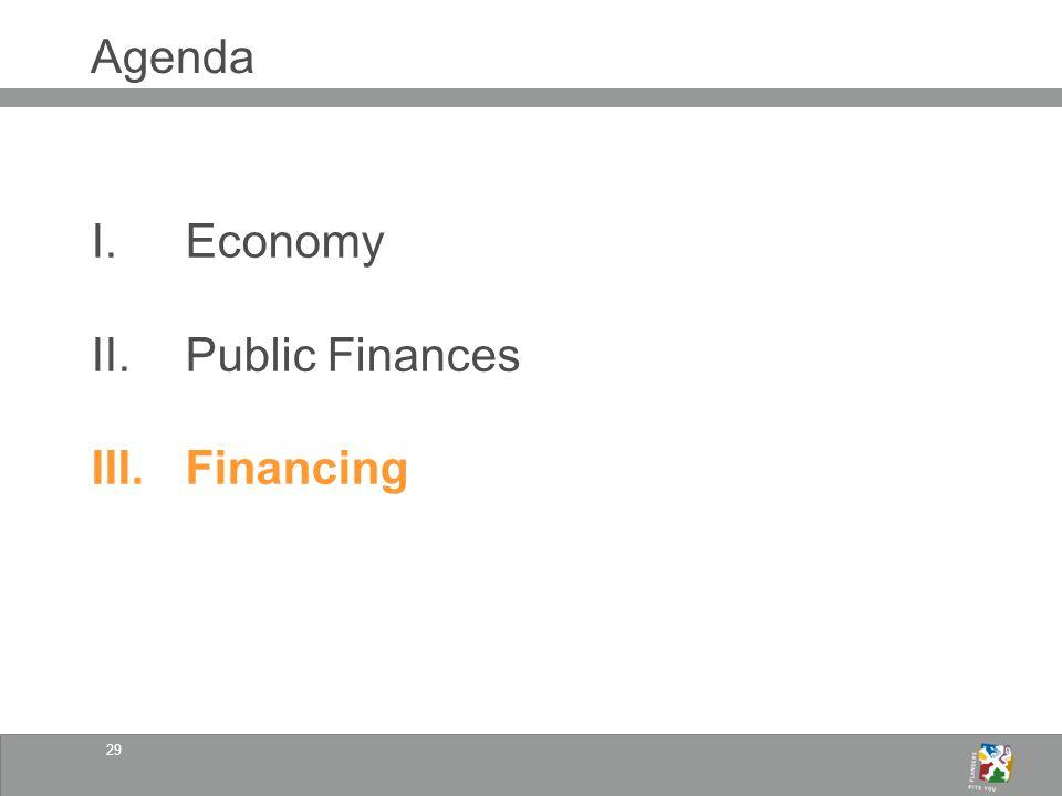 29 Agenda I.Economy II.Public Finances III.Financing