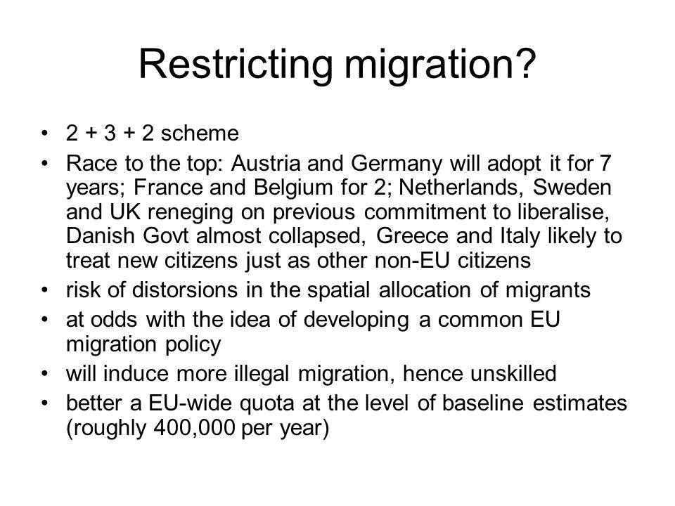 Restricting migration.