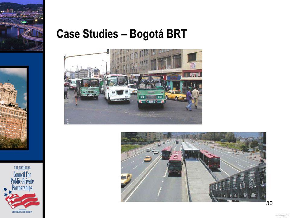 O102004008OMI 30 Case Studies – Bogotá BRT