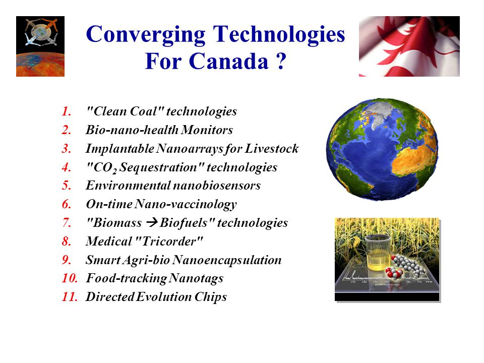 Converging Technologies For Canada .