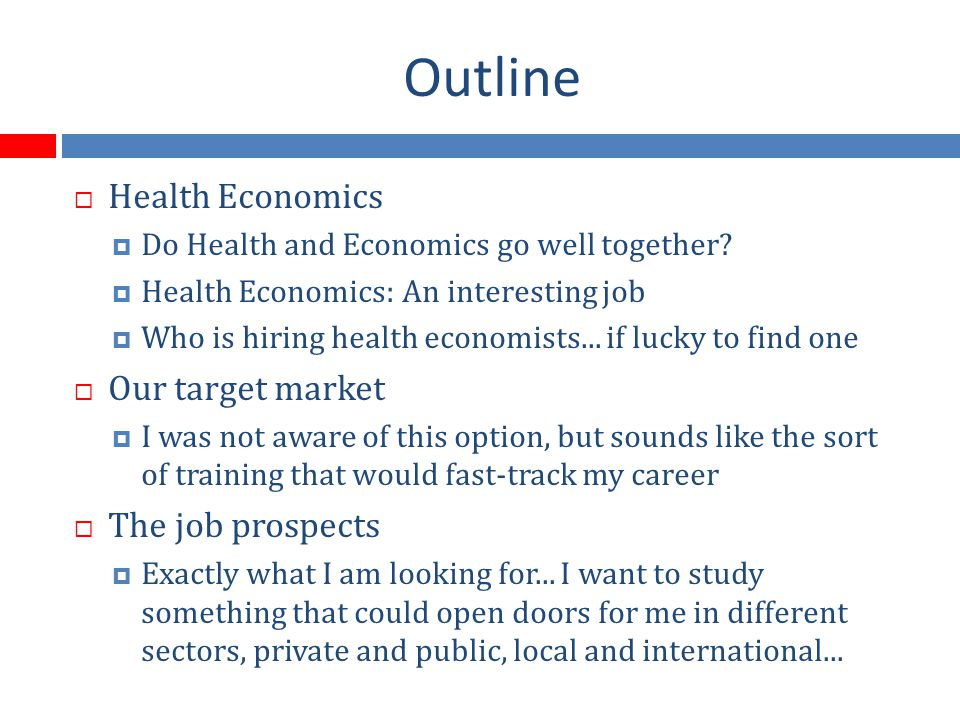 HEALTH AND ECONOMICS TOGETHER (1) LIMITED RESOURCES/UNLIMITED NEEDS/WANTS