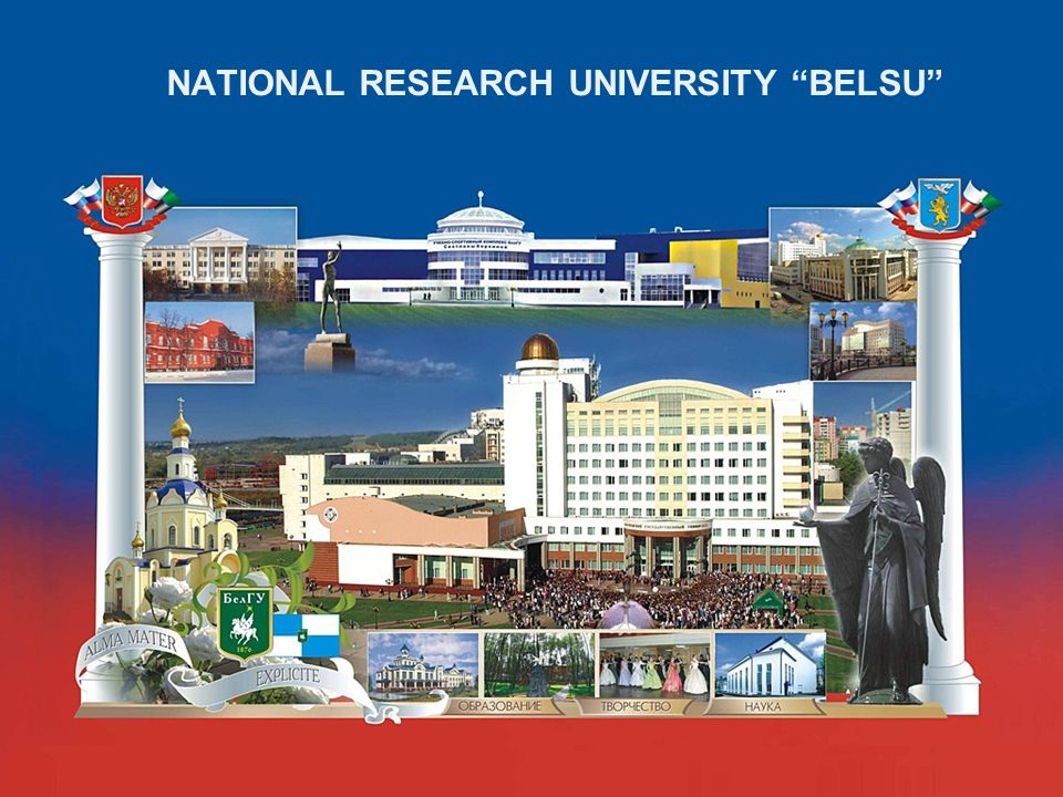 NATIONAL RESEARCH UNIVERSITRY Belgorod State University Internationalization Policy of NRU BelSU Welcome to Belgorod!