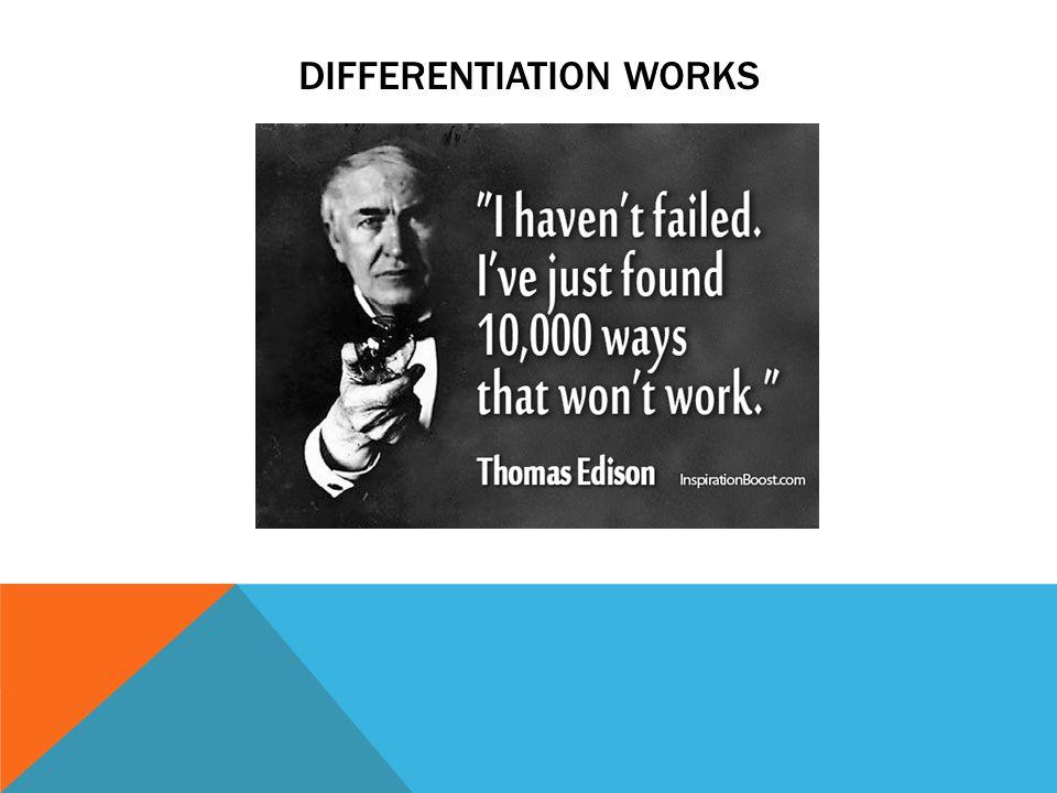 DIFFERENTIATION WORKS