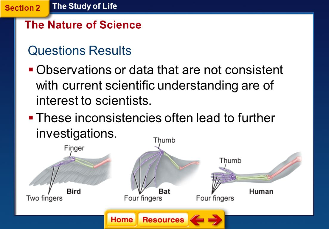 Challenges Accepted Theories Scientists welcome debate about one anothers ideas. The Study of Life Sciences advance by accommodating new information a
