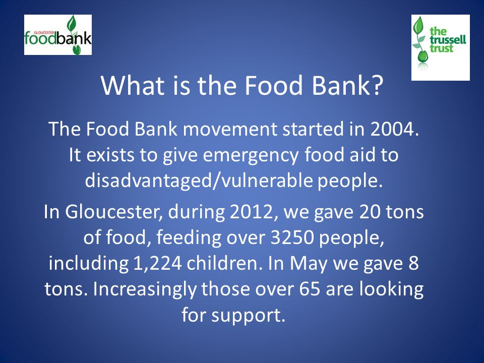 What is the Food Bank. The Food Bank movement started in 2004.