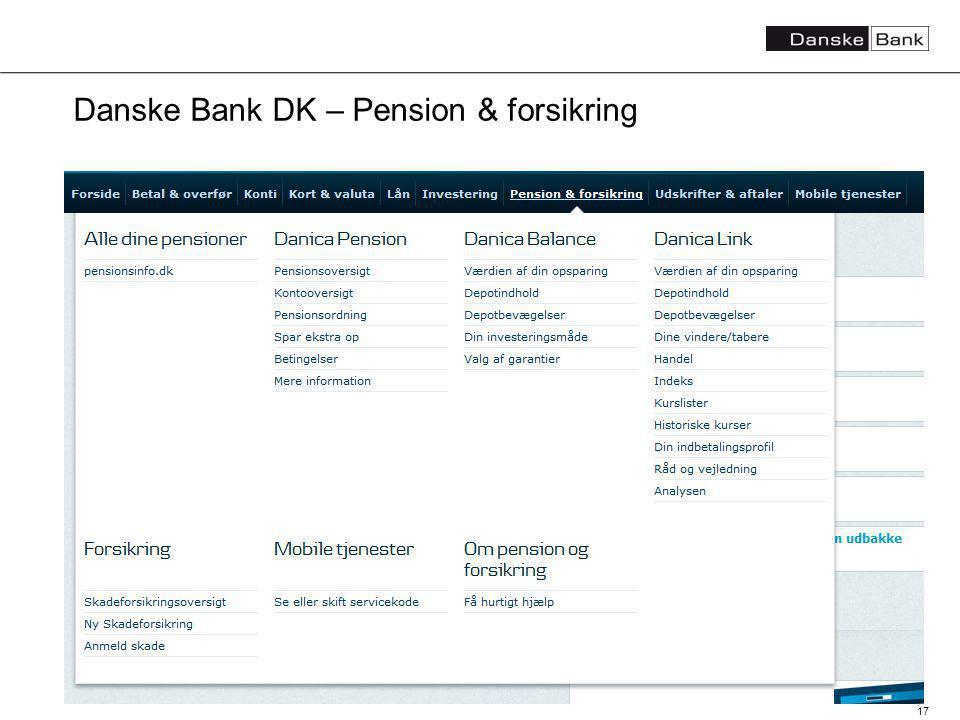 17 Danske Bank DK – Pension & forsikring