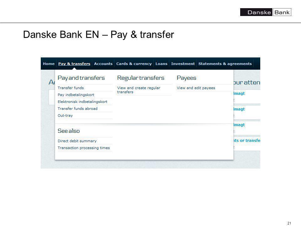 21 Danske Bank EN – Pay & transfer