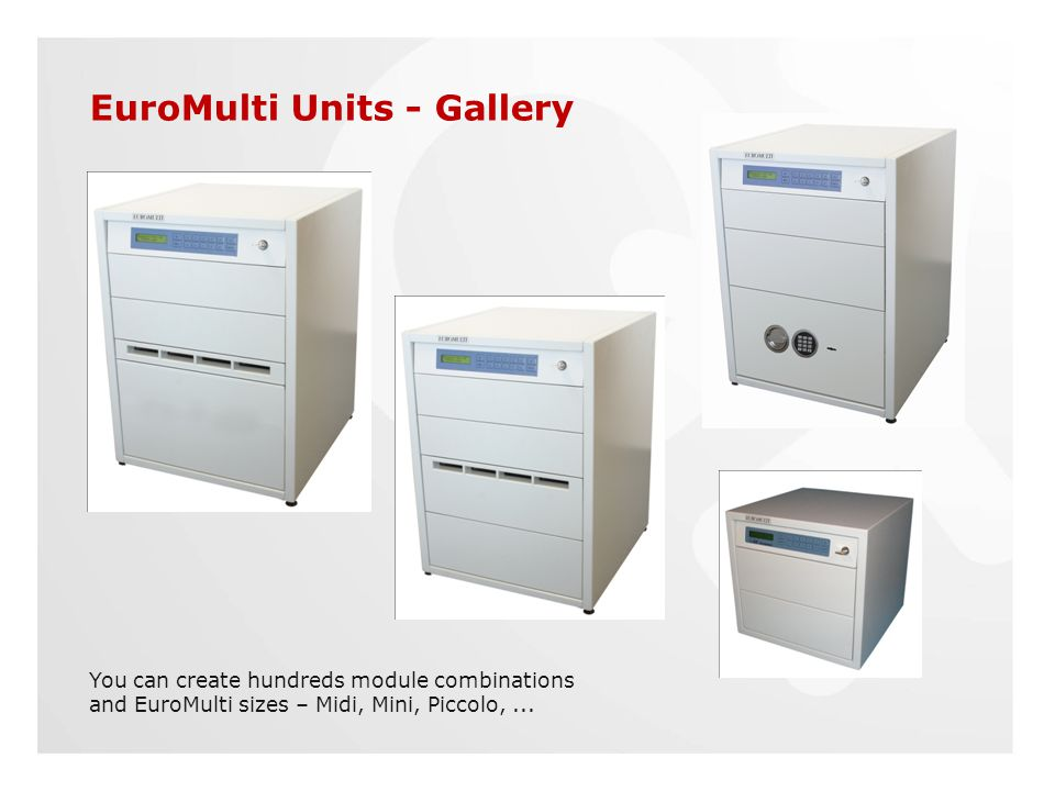 EuroMulti Units - Gallery You can create hundreds module combinations and EuroMulti sizes – Midi, Mini, Piccolo,...