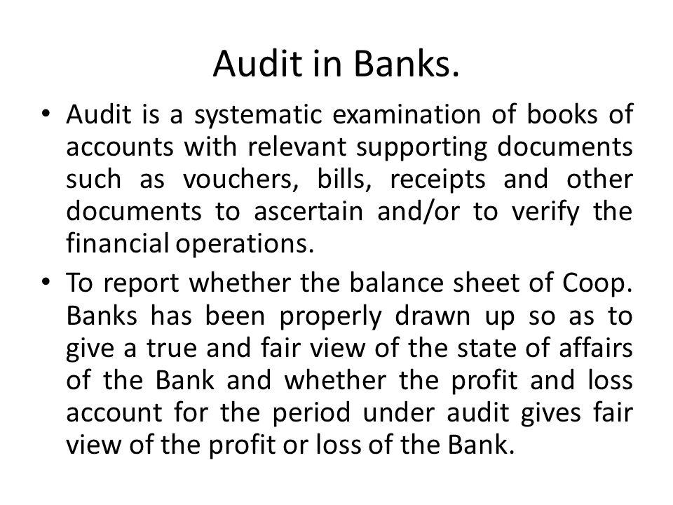 Audit in Cooperative Banks.Audit in Coop.